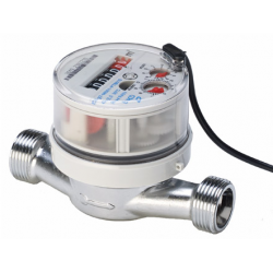 Warm water meter with pulse...