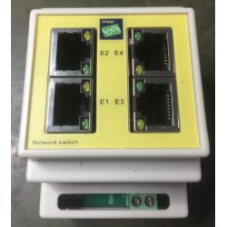 DINrail 4 poort switch